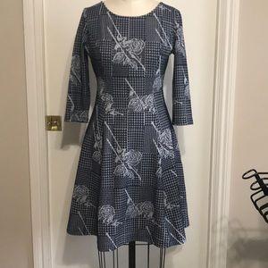 ModCloth Navy Knit Skater Dress